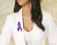 Load image into Gallery viewer, Alzheimer's Awareness Satin Ribbon Pins - Fundraising For A Cause