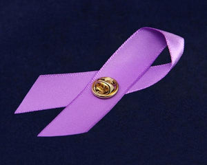Pancreatic Cancer Awareness Satin Ribbon Pins - Fundraising For A Cause