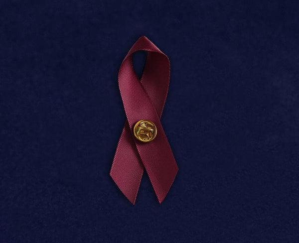 100 Satin Sickle Cell Anemia Awareness Ribbon Pins (100 Pins) - Fundraising For A Cause