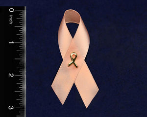 Satin Uterine Cancer Awareness Ribbon Pins - Fundraising For A Cause