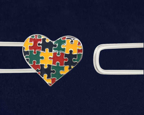 12 Autism Awareness Bangle Puzzle Heart Bracelets (12 Autism Bracelets) - Fundraising For A Cause