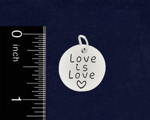 Bisexual Love Is Love Retractable Charm Bracelets - Fundraising For A Cause