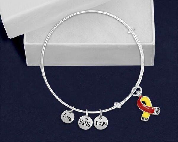 12 Coronavirus Disease (COVID-19) Awareness Ribbon Retractable Charm Bracelets (12 Bracelets) - Fundraising For A Cause