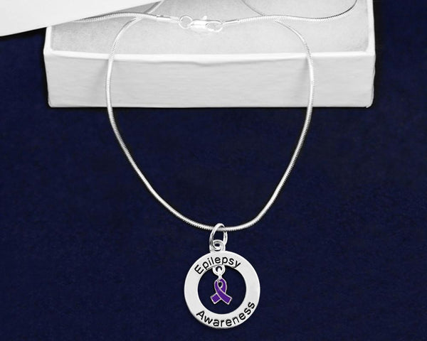 12 Epilepsy Awareness Necklaces (12 Necklaces) - Fundraising For A Cause