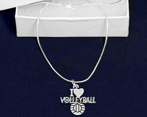 I Love Volleyball Necklaces - Fundraising For A Cause