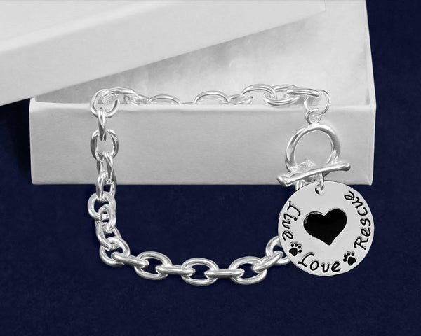 12 Live Love Rescue Chunky Link Style Bracelets (12 Bracelets) - Fundraising For A Cause