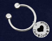Load image into Gallery viewer, Live Love Rescue Key Chains - Fundraising For A Cause