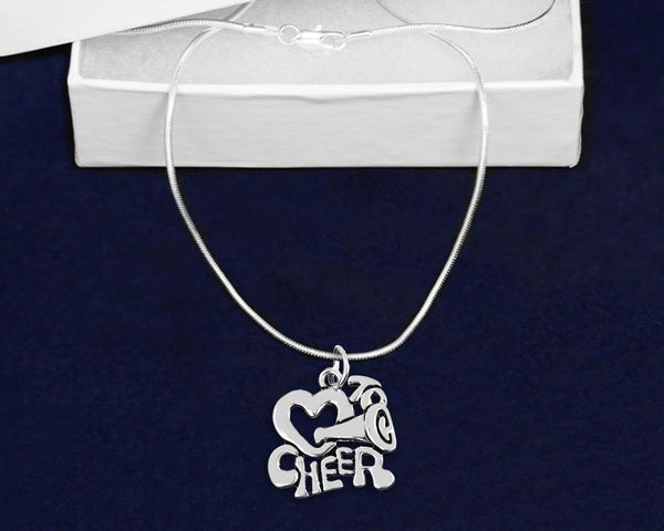 12 Love To Cheer Charm Necklaces (12 Necklaces) - Fundraising For A Cause