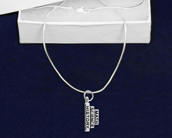 12 Math Science History Necklaces (12 Necklaces) - Fundraising For A Cause
