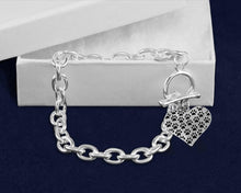 Load image into Gallery viewer, Multi Paw Print Heart Chunky Style Link Bracelets - Fundraising For A Cause