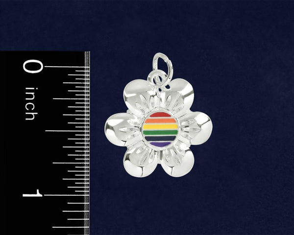 12 Rainbow Flower Earrings (12 Pairs of Earrings) - Fundraising For A Cause