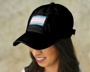 Rectangle Transgender Hats in Black - Fundraising For A Cause