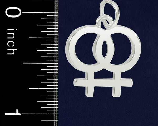 12 Same Sex Female Symbol Earrings (12 Pairs) - Fundraising For A Cause