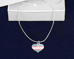 Transgender Heart Pride Necklaces - Fundraising For A Cause