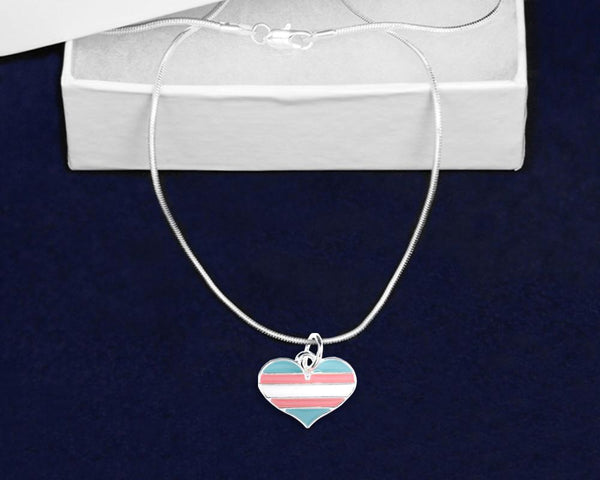 12 Transgender Heart Pride Necklaces (12 Pride Necklaces) - Fundraising For A Cause