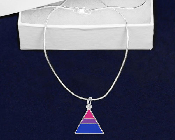 12 Triangle Bisexual Pride Necklaces (12 Pride Necklaces) - Fundraising For A Cause
