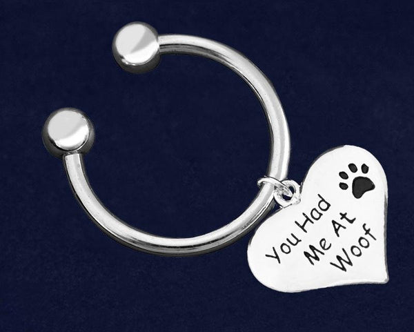 12 You Had Me At Woof Heart Key Chains (12 Key Chains) - Fundraising For A Cause