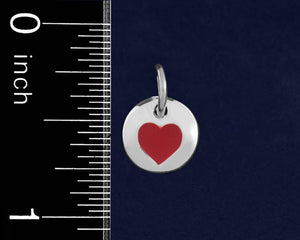 20 Red Heart Circle Charms (20 Charms) - Fundraising For A Cause