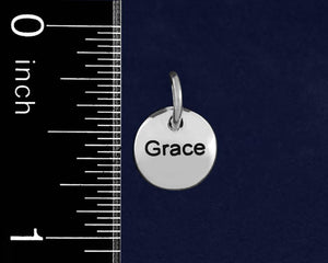 20 Silver Grace Circle Charms (20 Charms) - Fundraising For A Cause