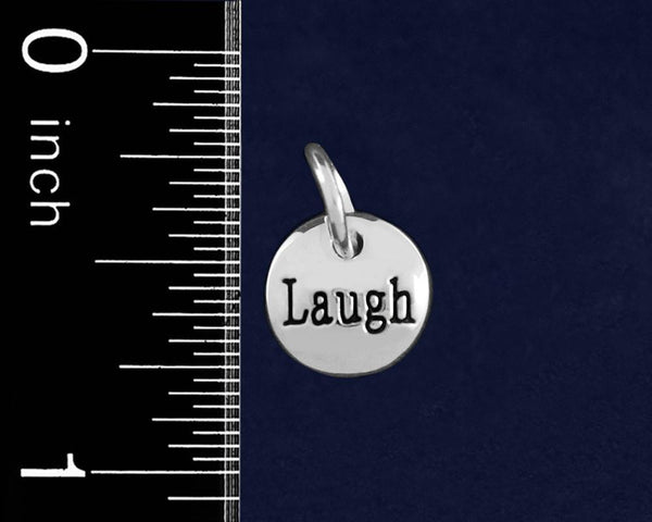 20 Silver Laugh Circle Charms (20 Charms) - Fundraising For A Cause