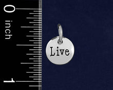 Load image into Gallery viewer, Silver Live Circle Charms - Fundraising For A Cause