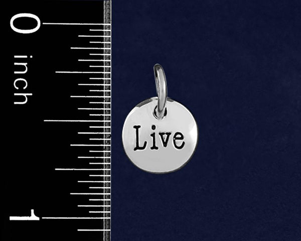 20 Silver Live Circle Charms (20 Charms) - Fundraising For A Cause
