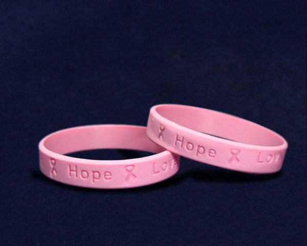 Child Sized Breast Cancer Silicone Bracelets Fundraising For A Cause