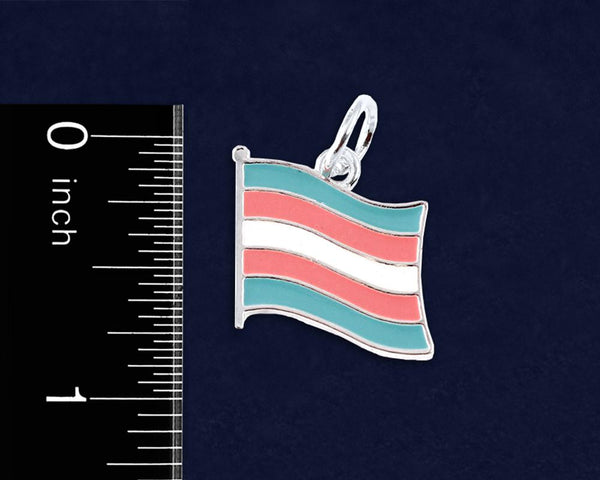 24 Transgender Flag Round Key Chains (24 Pride Key Chains) - Fundraising For A Cause