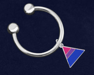 Triangle Bisexual Round Key Chains  - Fundraising For A Cause