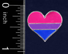 Load image into Gallery viewer, Bisexual Heart Pins - Fundraising For A Cause