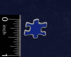 Bulk Blue Autism Awareness Puzzle Piece Pins - Fundraising For A Cause