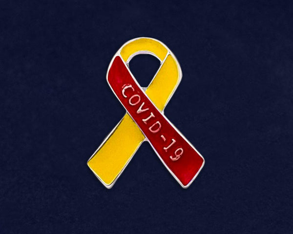 25 Coronavirus Disease (COVID-19) Ribbon Pins (25 Pins) - Fundraising For A Cause
