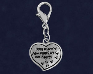 Dogs Leave Paw Prints Hanging Charms - Fundraising For A Cause