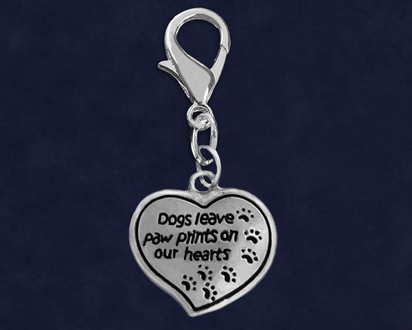25 Dogs Leave Paw Prints Hanging Charms (25 Charms) - Fundraising For A Cause