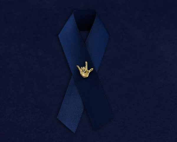 25 Gold Deaf Awareness Tac Pins (25 Pins) - Fundraising For A Cause