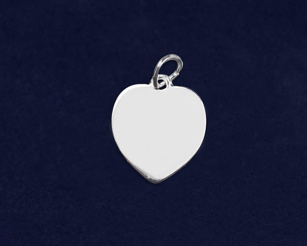 25 Kidney Cancer Awareness Heart Charms (25 Charms) - Fundraising For A Cause