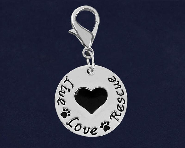25 Live Love Rescue Hanging Charms (25 Charms) - Fundraising For A Cause