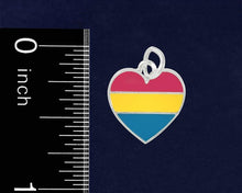 Load image into Gallery viewer, Pansexual LGBTQ Pride Heart Charms - Fundraising For A Cause