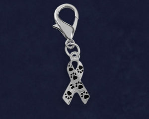 Paw Print Ribbon Hanging Charms - Fundraising For A Cause