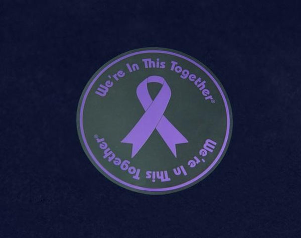 25 Purple Ribbon Car Window Decals (25 Decals) - Fundraising For A Cause