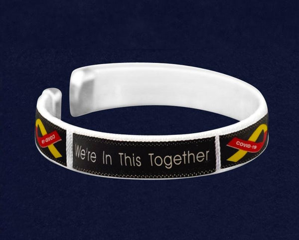 25 We're In This Together Coronavirus (COVID-19) Awareness Bangle Bracelets (25 Bracelets) - Fundraising For A Cause