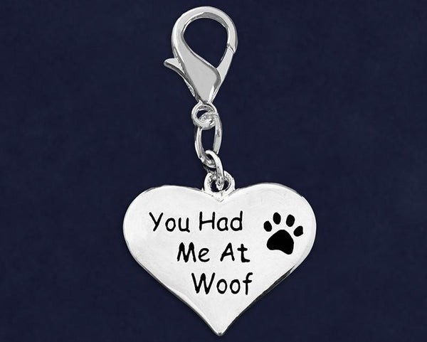 25 You Had Me At Woof Hanging Charms (25 Charms) - Fundraising For A Cause