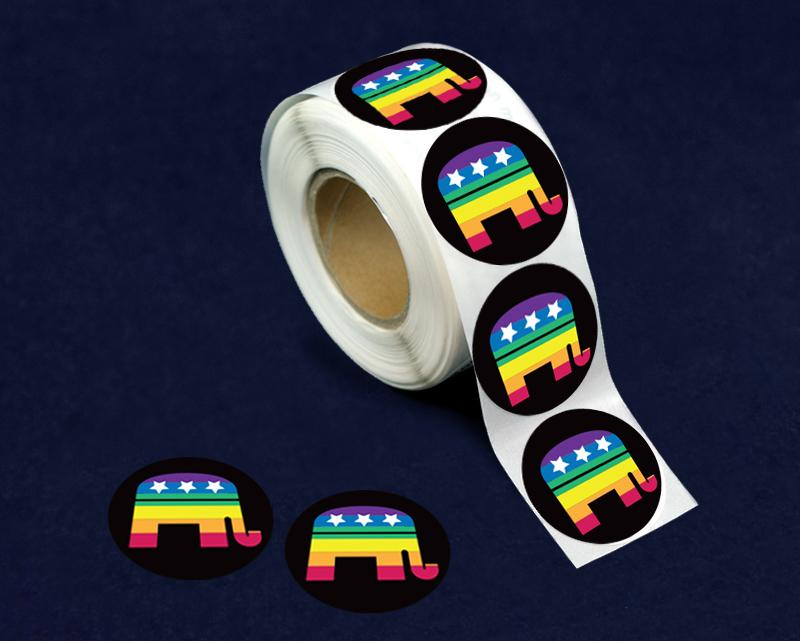 250 Republican Rainbow Stickers (250 Stickers) - Fundraising For A Cause