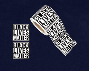250 Square Black Lives Matter Stickers (250 Stickers) - Fundraising For A Cause