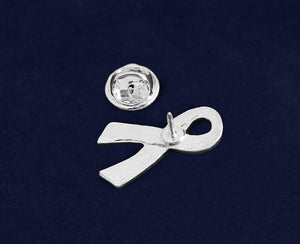 Large Flat Dk Blue Ribbon Pins - Fundraising For A Cause
