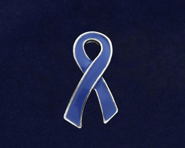 50 Large Flat Periwinkle Ribbon Pins (50 Pins) - Fundraising For A Cause