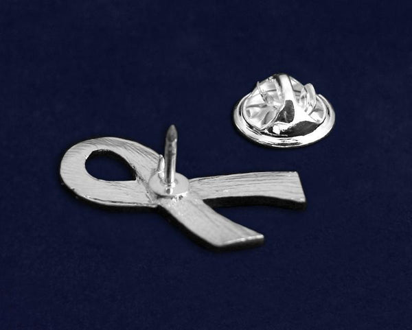 50 Large Flat Pink Ribbon Pins (50 Pins) - Fundraising For A Cause