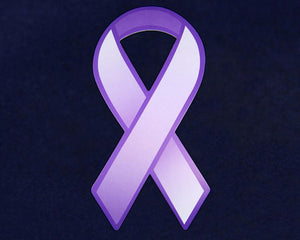 Large Paper Purple Ribbons - Fundraising For A Cause