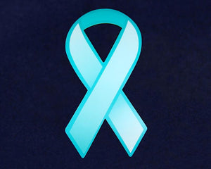 50 Large Paper Teal Ribbons (50 Ribbons) - Fundraising For A Cause