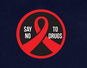 500 Say No To Drugs Red Ribbon week Circle Stickers (500 Stickers) - Fundraising For A Cause